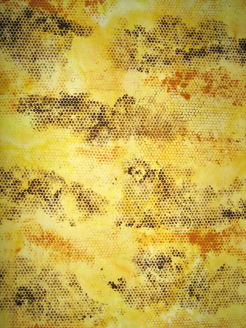hand stencilled fabric