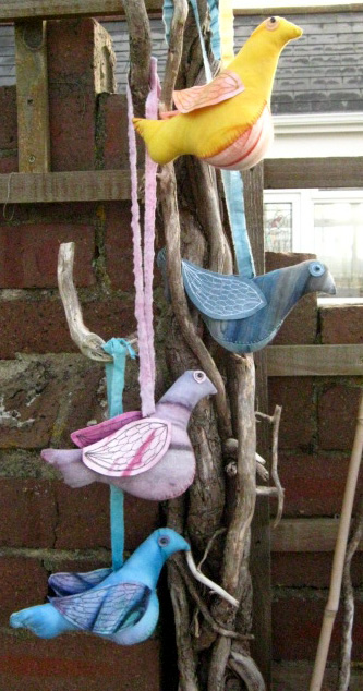 handmade stuffed bird