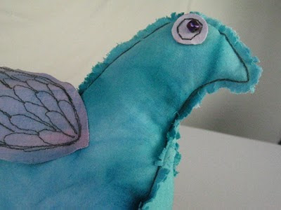 handmade stuffed bird