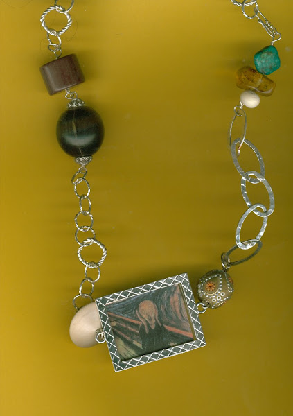 ***********SOLD****************SCREAM : ART Necklace and MORE