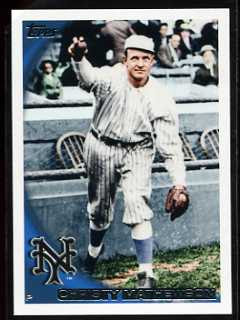2010 Topps Christy Mathewson Variation Card