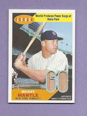 2009 Topps Heritage Mickey Mantle Seat Relic
