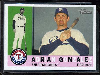 2009 Topps Heritage Adrian Gonzalez Variation
