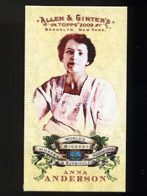 2009 Allen & Ginter Worlds Greatest Hoaxes Anna Anderson