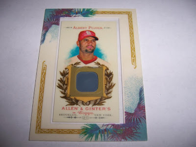 2007 Allen & Ginter Albert Pujols Game Used No-Bat