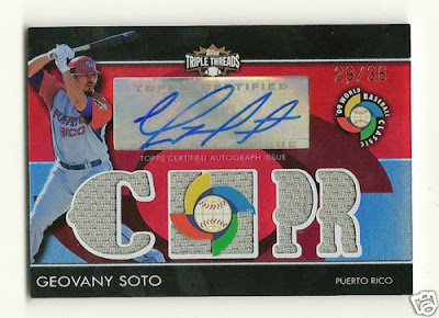 2009 Topps Triple Threads Geovanny Soto Auto