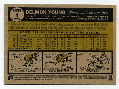 2010 Topps Heritage Delmon Young