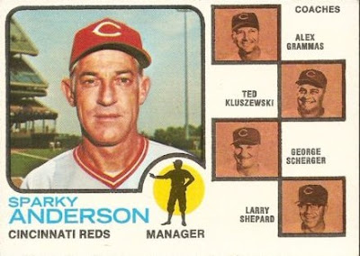 1973 Topps Sparky Anderson
