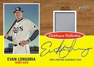2011 Topps Heritage Clubhouse Collection Evan Longoria