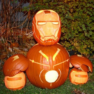 Iron Man pumpkins