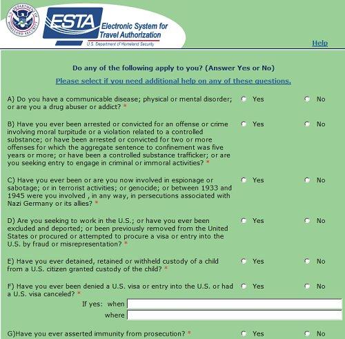 esta formulier amerika aanvragen