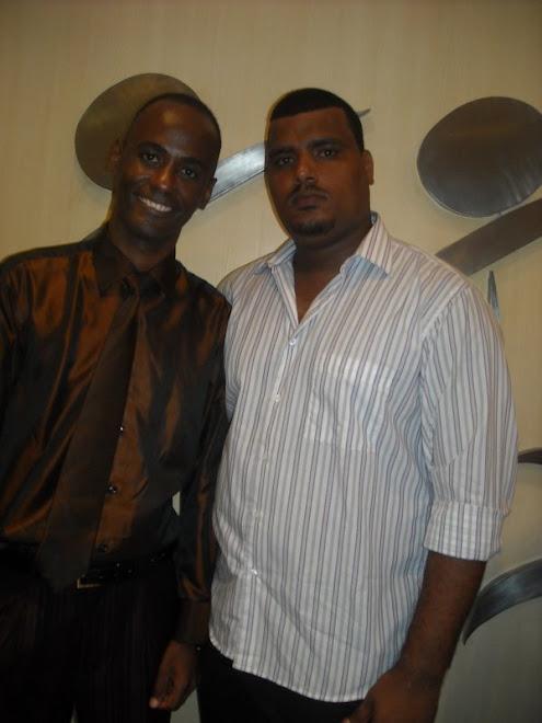 Eu e meu cunhado e acessor Flávio Duarte