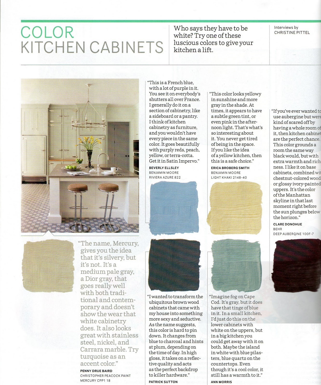Cottage modern january 2011 for Benjamin moore paint colors for kitchen cabinets