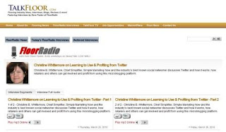 Christine B. Whittemore Talks Twitter on TalkFloor