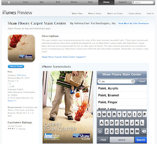 Shaw Floors Carpet Stain Center App