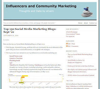 eCairn's Top 150 Social Media Marketing Blogs