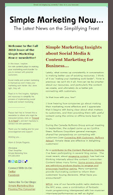 Simple News & Insights - Fall 2010