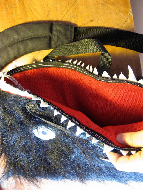 furry monster laptop sleeve