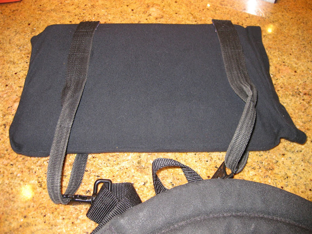 DIY laptop case using duffle straps for support