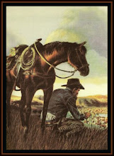 Cowboy praying the Rosary