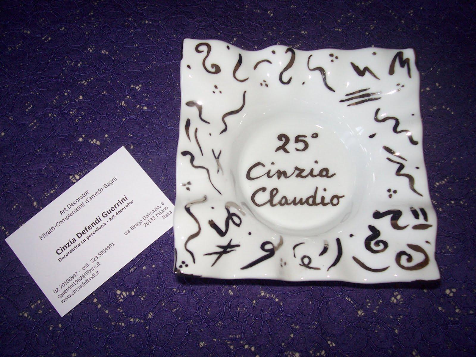 Idee per gli sposi dipinte da cinzia defendi 25 for Anniversario matrimonio 25