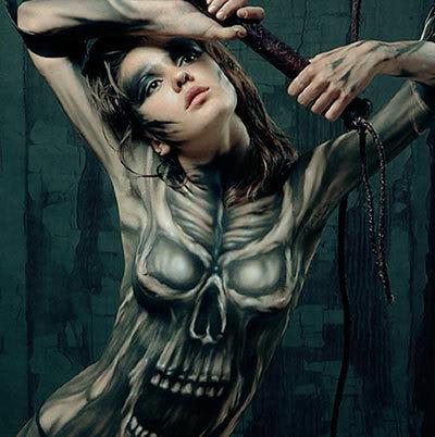 KULT contemporain et Arthurien Evgeny_body_paint_22