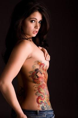 Women Side Body Japanese Geisha Tattoos Picture 1