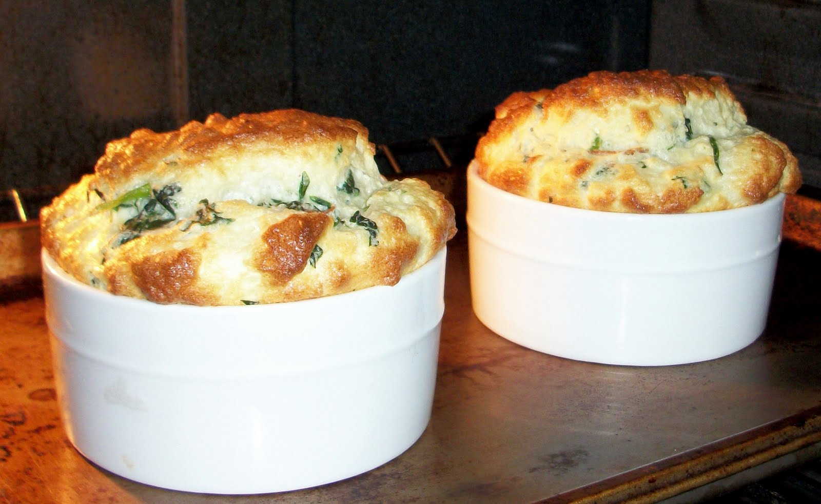 Chef Bob Presents: Cheddar Bacon And Scallion Souffle