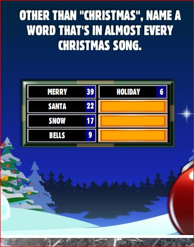facebook family feud answers other than christmas name a. Black Bedroom Furniture Sets. Home Design Ideas