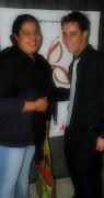 Con Mercedes Oropeza