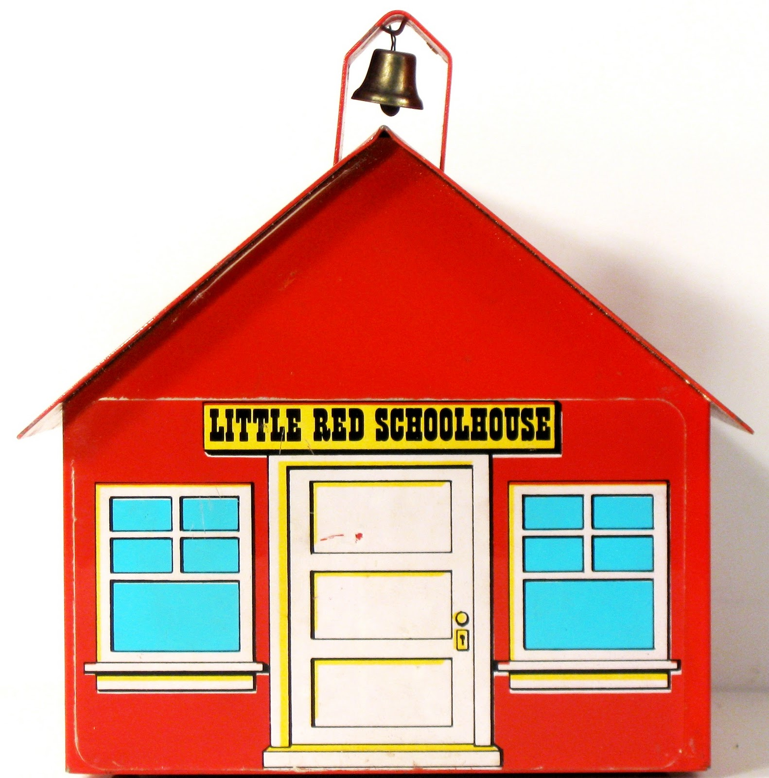 Little School House School House Cartoon Red