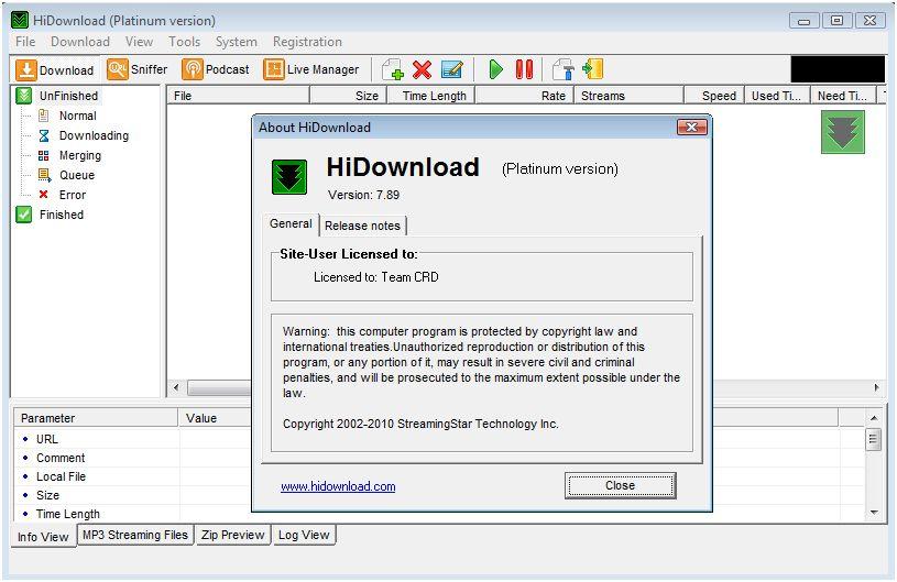 hidownload platinum key