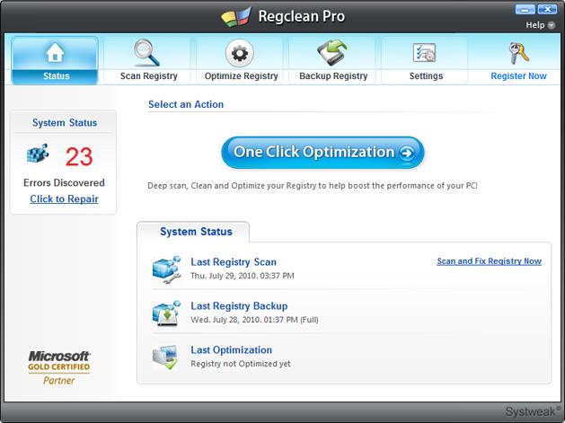 ��� ����� �� Systweak Regclean Pro