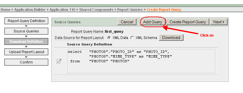 Hil co it solutions how to create a repoert query in apex and click on add query button urtaz Choice Image