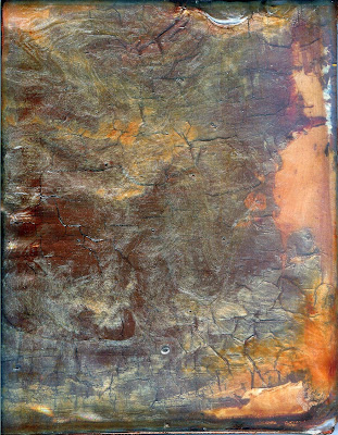 contemporary abstract copper acrylic sheet painting by Tiffany Gholar