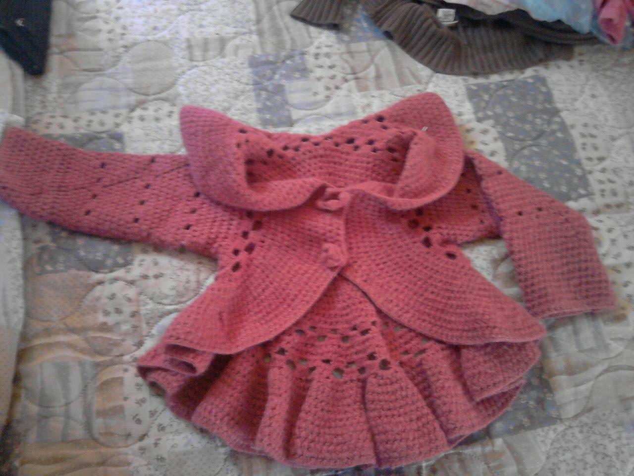 Sueter A Ganchillo Para Bebe - Sweater Grey