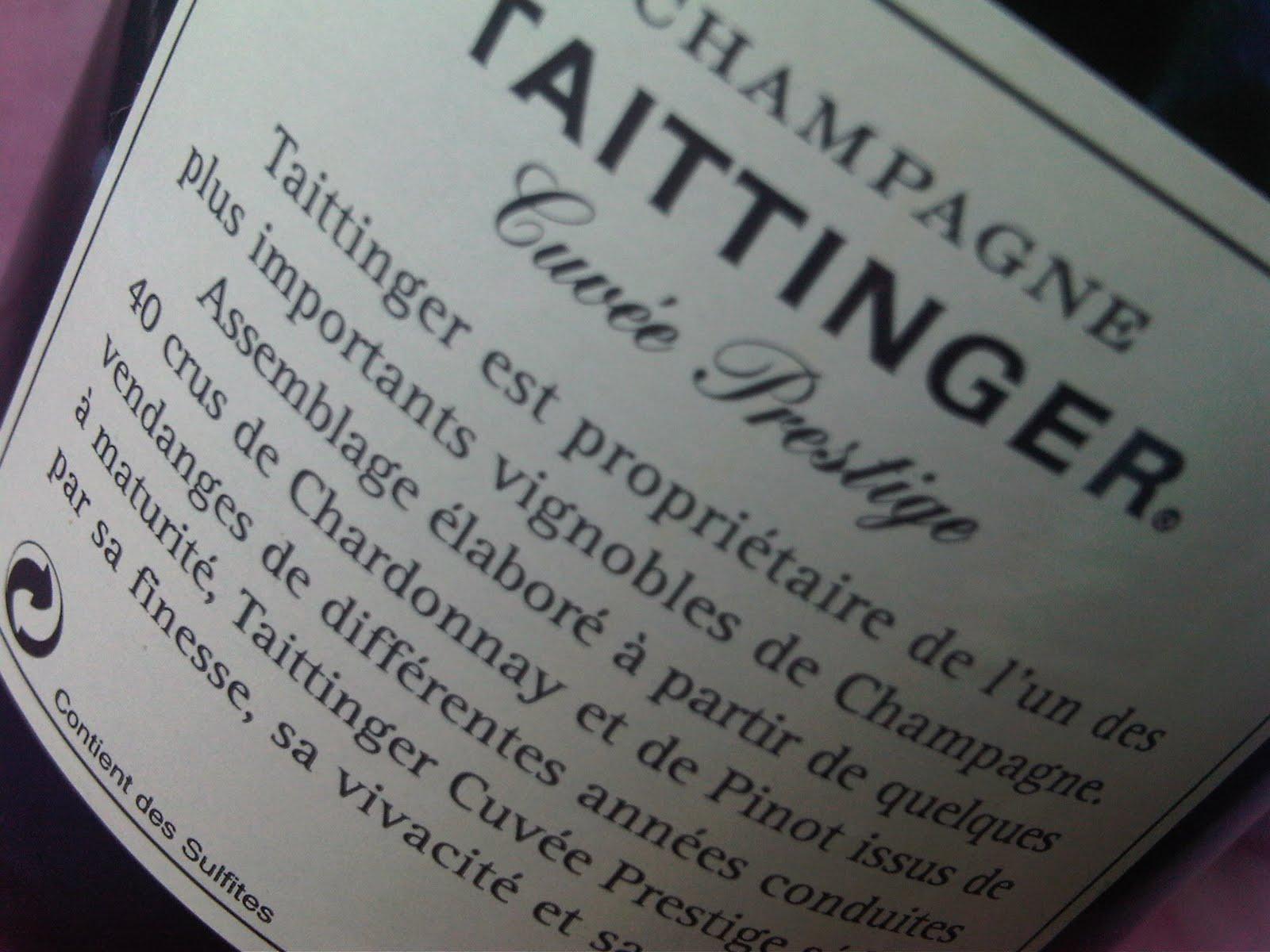 El alma del vino champagne taittinger cuv e prestige - Champagne taittinger cuvee prestige ...