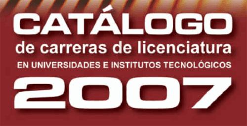 Catálogo de licenciaturas e ingenierías en México