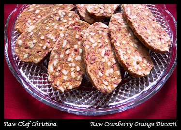 Raw Cranberry Orange Biscotti