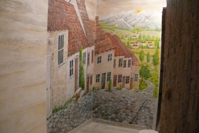 Lublin, malowidło w przedpokoju jako element wystroju, malowanie obrazu 3D