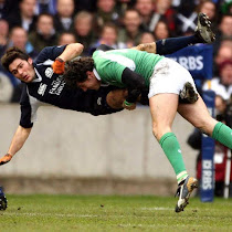 flying tackle...
