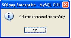 Reorder MySQL Table, Reorder Column MySQL, Reorder Field MySQL