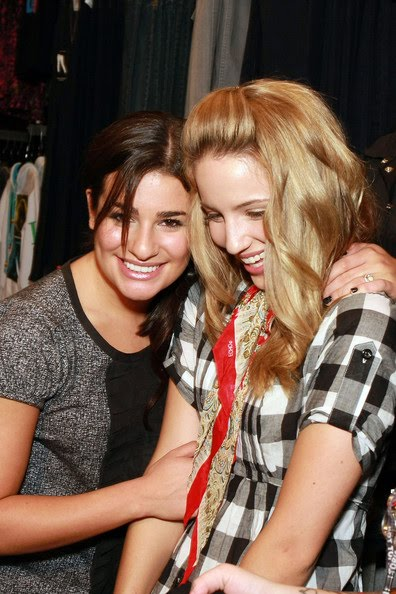 And here is one brand new one, Lea Michele & Dianna Argon from GLEE:
