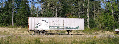 It says 'Keep Maine Scenic'