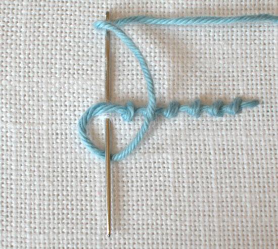 Coral stitch, German knot stitch, knotted stitch, beaded stitch