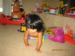 Oh she is crawling....