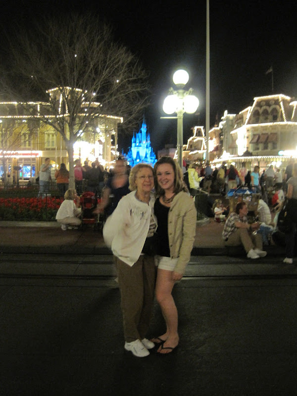 Grandma and Sis on Main Street
