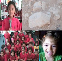 Composite picture Gloria, Room 10, Kaia, Kaia's rock picture