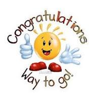 Congratulations. Way to Go!