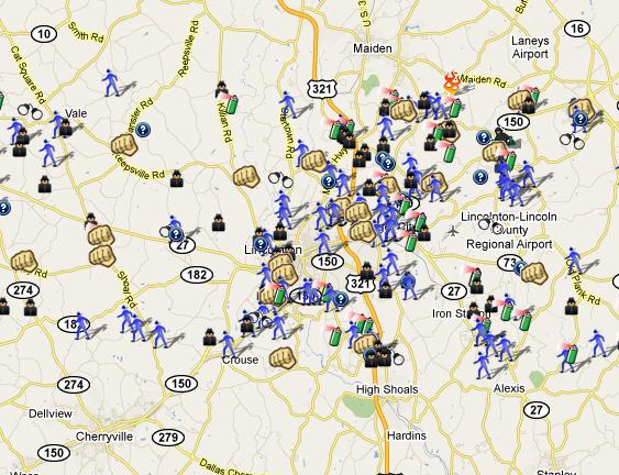 Lincoln County Nc Spotcrime Map Spotcrime The Public S Crime Map